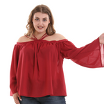 Oversize Sling Off-the-shoulder T-shirt