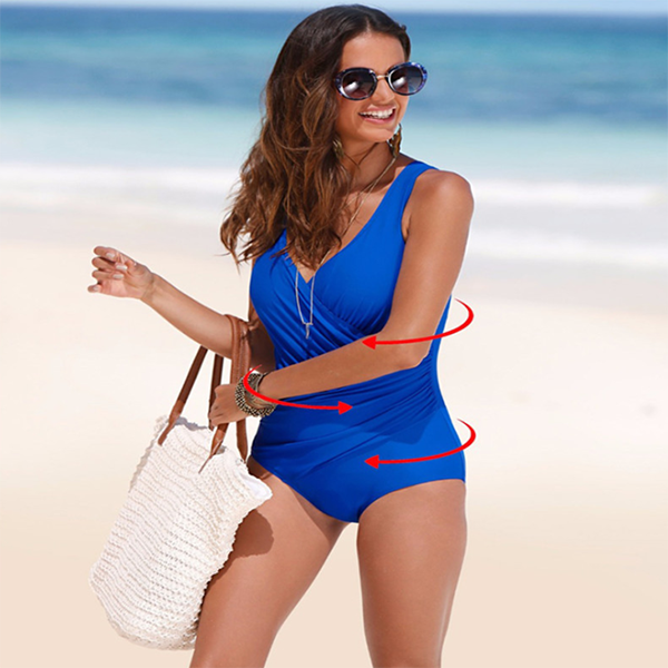 Large Size One-piece Classic Solid Color Swimsuit