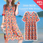 Loose Oversize Printing Silk dress