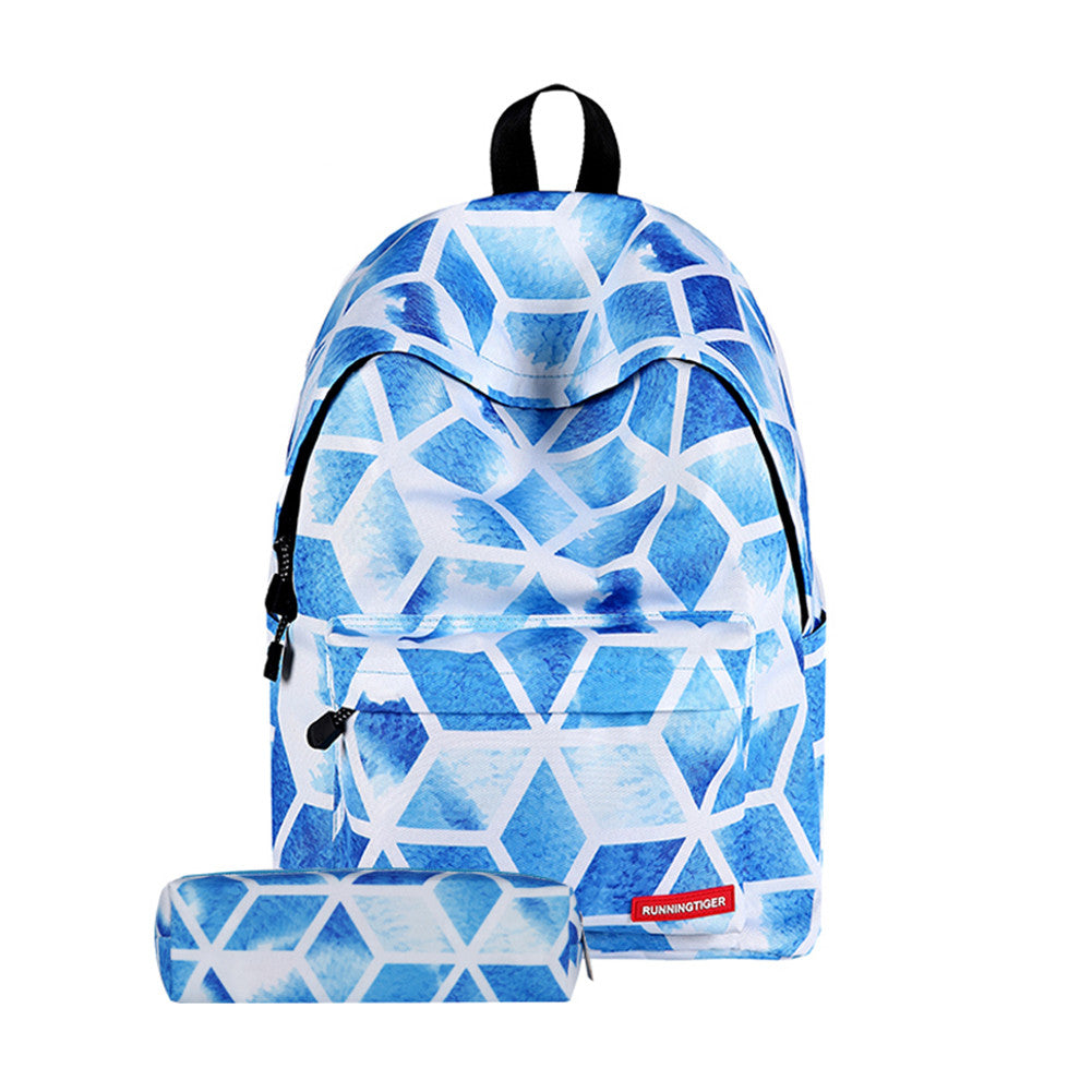 New Fashion Student Backpack Casual Classic Shoulder Bag with Pencil Case Perfect for High Middle School Student