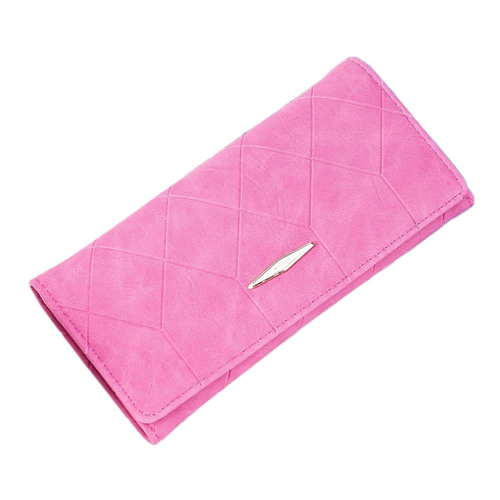 Women Solid Hasp Coin Purse Long Wallet Card Holders Handbag