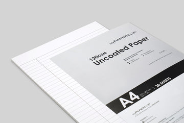 UNCOATED WHITE PAPER - RULED