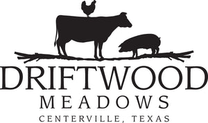 Pasture raised chicken, pasture raised beef, pasture raised pork. Driftwood Meadows, Texas pasture raised. Texas farm.