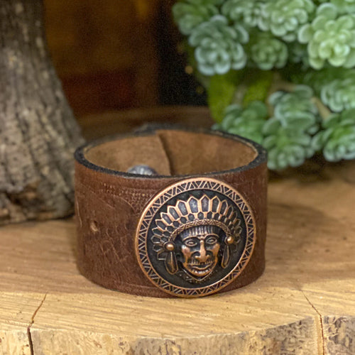 Leather Bracelet with Accent