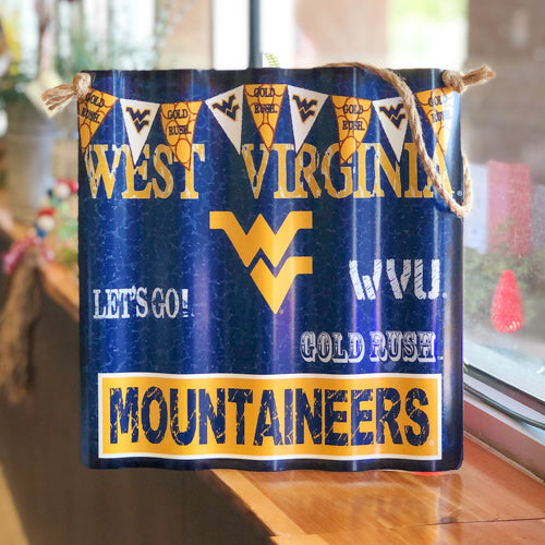 West Virginia University Metal Sign