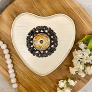 Ivory White Heart Wall Decor