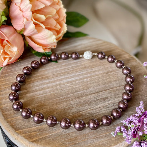 Plum Pearl Necklace