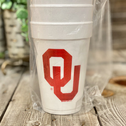 College Themed Styrofoam Cups
