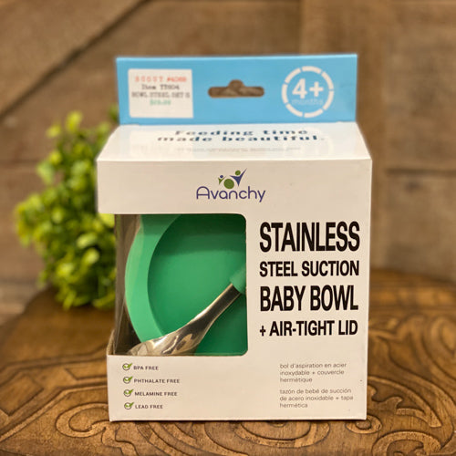 Stainless Steel Suction Baby Bowl & Spoon