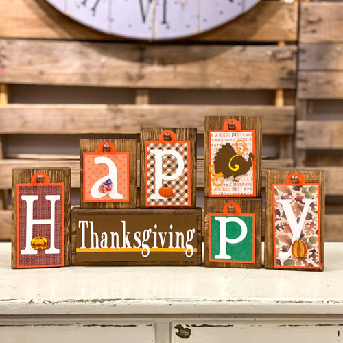 Thanksgiving Themed Block Tags