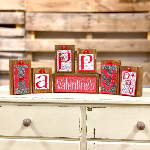 Happy Valentine's Day Block Tag Sets