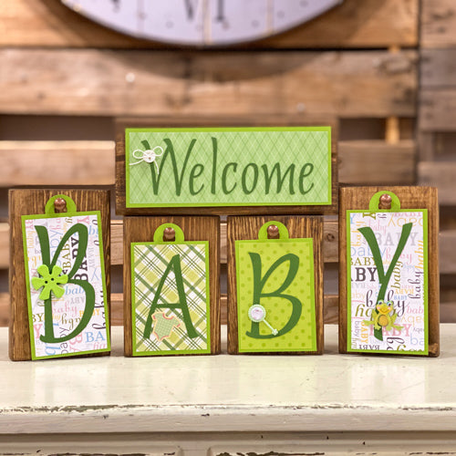 Welcome Baby Block Tags