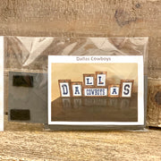 Dallas Cowboys Block Tag Set