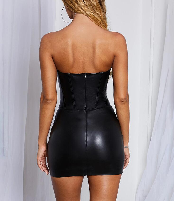 Sexy Women Bag Hip Black Dress