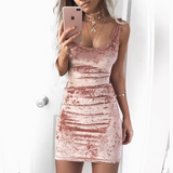 Solid Color Sexy Sleeveless Vest Dress