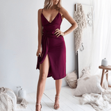 V-Neck Sexy Sling Backless Dress