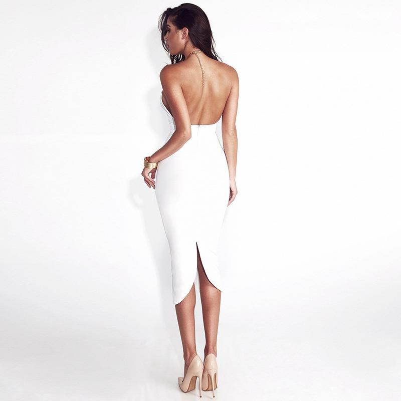 Women'S Fashion Hanging Neck Backless Dress