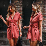 Fashion Women Short Sleeve Dress