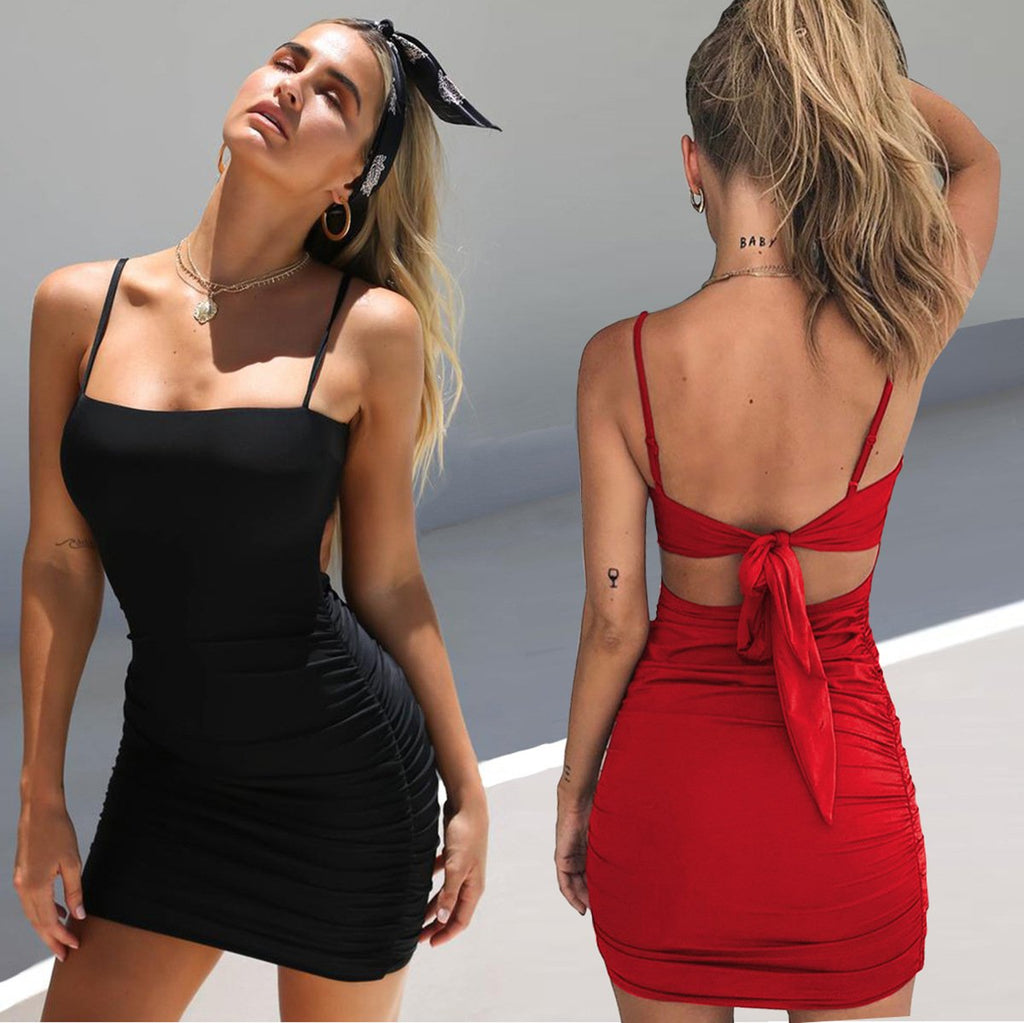 Women'S Sling Bow Dress