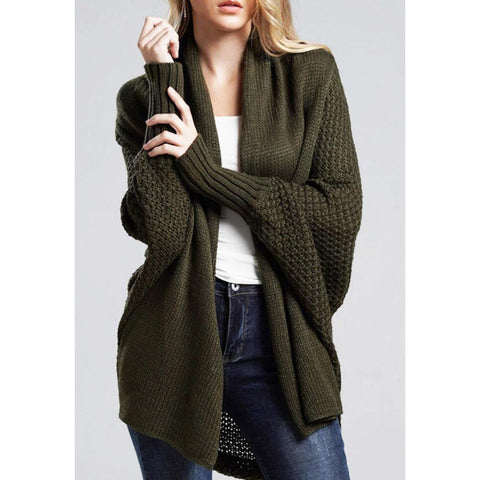 Women Long Sleeve Knitted Cardigan Jacket Outwear Top