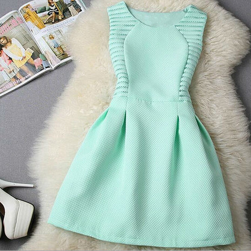 Fashion Round Neck Sleeveless Dress