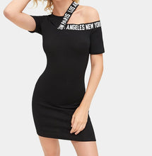 Load image into Gallery viewer, LETTER TAPE CASUAL DRESSS