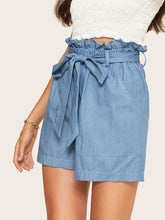Load image into Gallery viewer, PAPER BAG HIGH WAIST SHORTS