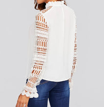 Load image into Gallery viewer, GUIPURE LACE SLEEVE BLOUSE