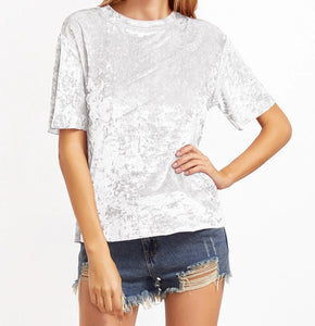 CRUSHED VELVET T-SHIRT