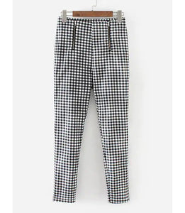 CHECKERED ZIP PANTS
