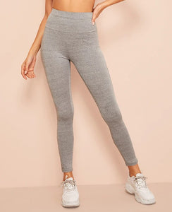 SIDE MESH PANEL GREY LEGGING