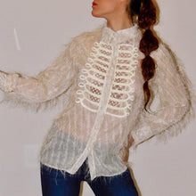 Load image into Gallery viewer, TASSEL PEARL GAUZE BLOUSE