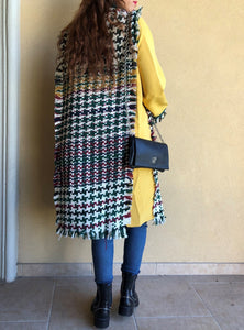 CHECKED MULTI LONG COAT