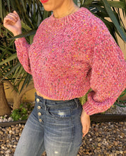 Load image into Gallery viewer, MULTI ROSE CROP SWEATER