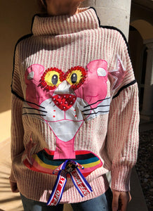 PINK PANTHER LONG SWEATER