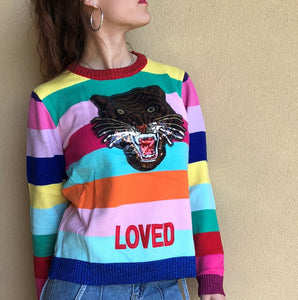 RAINBOW TIGER SWEATER