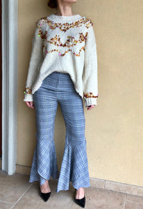 SEQUINED ROUND LOOSE SWEATER