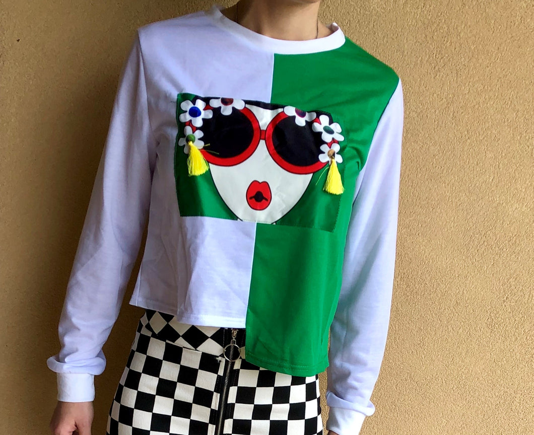 SUNGLASSES CARTOON PRINTED SHIRT