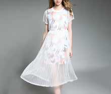 Load image into Gallery viewer, GAUZE PRINTED DRESS