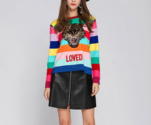 Load image into Gallery viewer, RAINBOW TIGER SWEATER