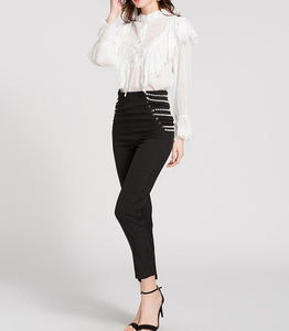 HIGH WAIST PEARL PANTS