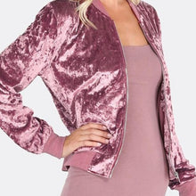 Load image into Gallery viewer, PINK CRUSHED VELVET JACKET