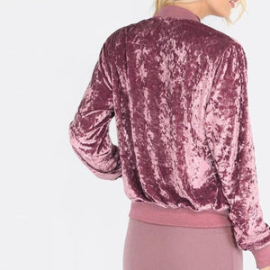 PINK CRUSHED VELVET JACKET