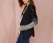 Load image into Gallery viewer, OMBRE SEQUINED SLEEVE BLAZER