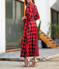 Load image into Gallery viewer, PLAID MISMATCH MAXI DRESS