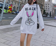Load image into Gallery viewer, BUNNY HOODIE DRESS