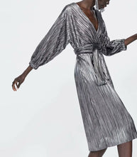 Load image into Gallery viewer, SILVER COCKTAIL DRESS