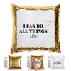 I Can Do All Things Sequin Pillow