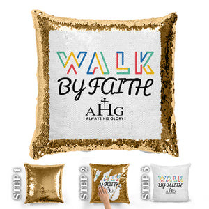 Walk By Faith Sequin Pillow