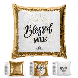Blessed Mode Sequin Pillow